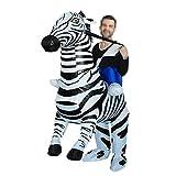OLLVU Erwachsene Halloween Zebra Cosplay Bar Mall Leistung Requisiten Lustige Aufblasbare Weihnachtskleid Kostüm Eltern-Kind Requisiten Anzug (Color : Black)