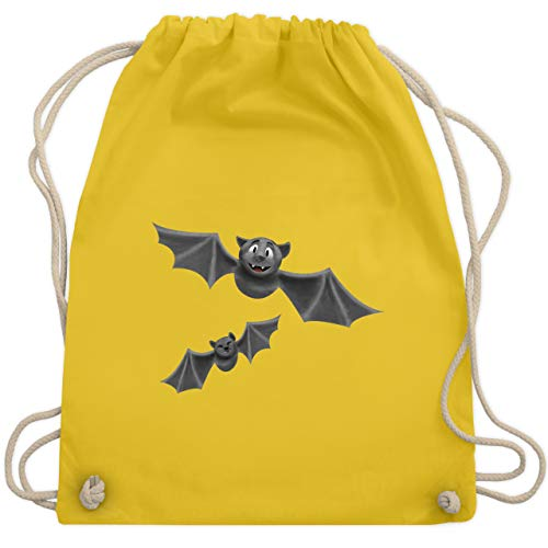 Kostüm Unheimlich Fledermaus - Halloween - süße Fledermäuse - Unisize - Gelb - WM110 - Turnbeutel & Gym Bag