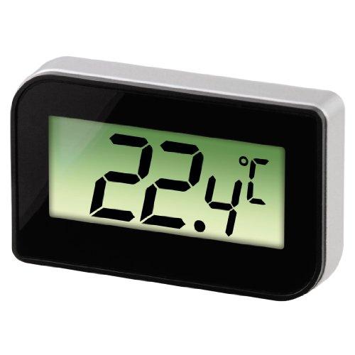 Xavax Digitales Kühl-/Gefrierschrankthermometer (zum Aufstellen, Hängen oder magnetischen Anhängen im Kühlschrank, Gefrierschrank, Tiefkühltruhe, min. -30 Grad, max. +70 Grad) schwarz