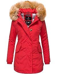 Marikoo Damen Parka Jacke Winterjacke Fellkapuze Trend Farben KRM55 c346e2c6fe