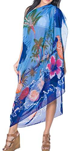 avvolgere resortwear coprire sarong gonna donne costume da bagno pareo beachwear di bagno dello swimwear vestito Blu reale
