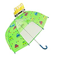 Hibbent Kids Umbrella for Girls and Boys with Clear Peek-a-Boo Windowpane Bubble Umbrella Children