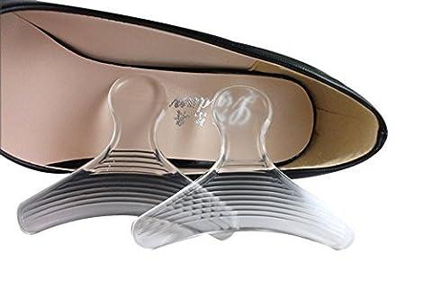 Talon haut grips-shoe rembourré Semelle intérieure en silicone insère Poignées Talon Talon Premium pour, éviter les pied douleur, sous blister, offre une meilleure Chaussures Lot de