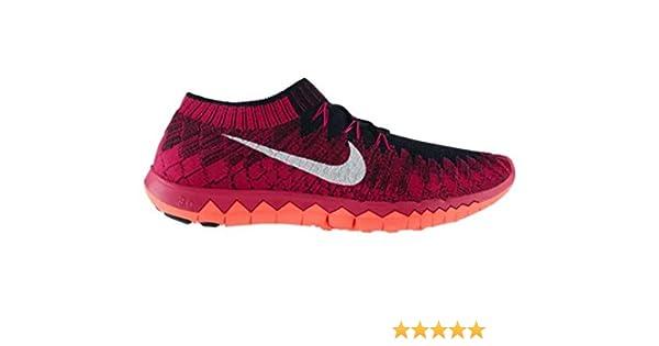 NIKE Free 3.0 Flyknit Men's Running Shoe, RedBlack, UK7