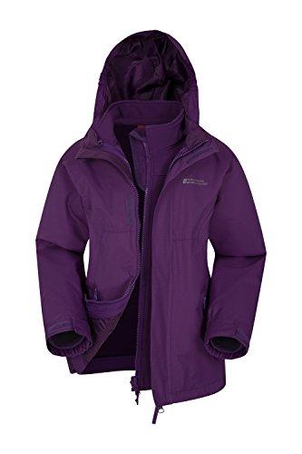 Mountain Warehouse Bracken Extreme 3-in-1-Jacke für Kinder - Wasserfest, Regenjacke, Atmungsaktiv, versiegelte Nähte, Netzfutter - Für Frühlingsreisen, Kaltes Wetter