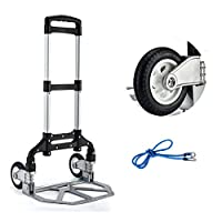ASDFNF Hand Truck, 2-Wheel Solid Construction Utility Cart Compact And Lightweight For Luggage, Personal, Travel, Auto, Moving And Office Use (Color : A)