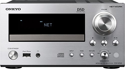 Onkyo CR-N765 (S) Netzwerk HiFi-Mini Receiver (22W/Kanal, CD, Hi-Res Audio, DSD, dlna, Spotify Connect, RDS Radio, iPod/iPhone, USB) silber
