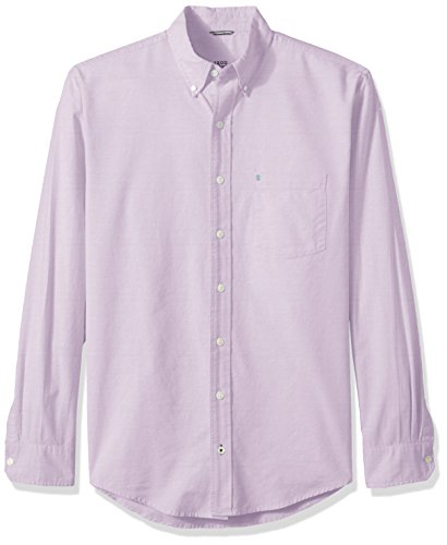 IZOD Men's Big and Tall Oxford Solid Long Sleeve Shirt, Sheer Lilac, 3X-Large Tall (Oxford Hemd Big And Tall)