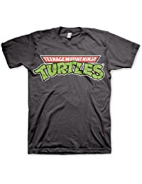 Herren Teenage Mutant Ninja Turtles-Klassiker-Logo Grau Retro-T-Shirt