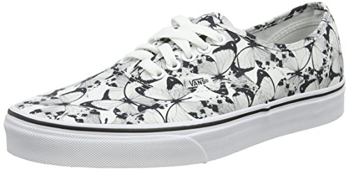 Vans Authentic, Scarpe da Ginnastica Basse Unisex - Adulto, Bianco (Butterfly True White/Black), 41 EU