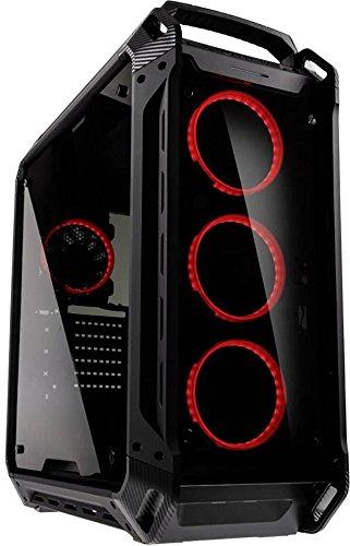 COUGAR Gaming Panzer Evo Gehäuse Full-Tower Schwarz - PC-Gehäuse (Full-Tower, PC, ATX,CEB,EATX,Micro-ATX,Mini-ITX, Schwarz, Spiel, Rot) Rot Micro Case