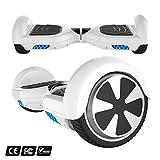 Markboard Elektro Scooter E-Balance E-Skateboard Elektroroller SUV mit Offroad-Reifen (Weiß)