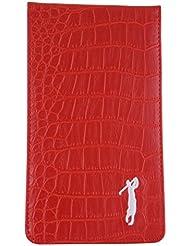 Rojo Cocodrilo Cuero Tarjeta de Puntuación y VF libro soporte por Mercia golf