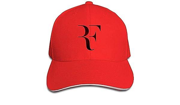 Yyangguang Huseki Roger Federer Sandwich Baseball Caps for Unisex Adjustable Red