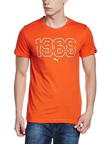 Puma Herren Blaze 68 Tee T-Shirt, Mehrfarbig Orange.com