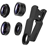 TURATA IPhone Lens 4 In 1 Lens Kits, 198Fish Eye + 0.63X Wide Angle + 15X Macro + CPL Lens , HD Clip-on Lens Kits For IPhone 8, 7, 6s, 6, 6 Plus, 6s Plus, 5s, Samsung Most Smartphones (4 In 1)