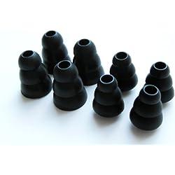 8 Pièces (M-SLB) Triple Bride Remplacement Embouts d'oreille pour Westone W10, W20, W30, W40, W50, W60, UM PRO 10, UM PRO 20, UM PRO 30, UM PRO 50, UM1, UM2, UM2 RC, UM3, UM3 RC, UM3X, UM3x RC, Westone 1, 2, 3, 4, 4R, Adventure Serie Alpha et Beta Ecouteurs intra auriculaires / Casques