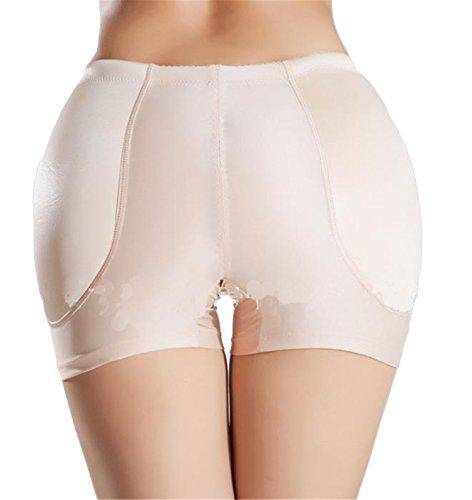 Hippolo Frauen Mitte Anstieg Beute Butt Enhancer gepolsterte Hüfte und Gesäß Hüfte Booster gepolsterte Panty gefälschte Arsch Unterwäsche (M, Farbe) (Beute Enhancer Höschen)