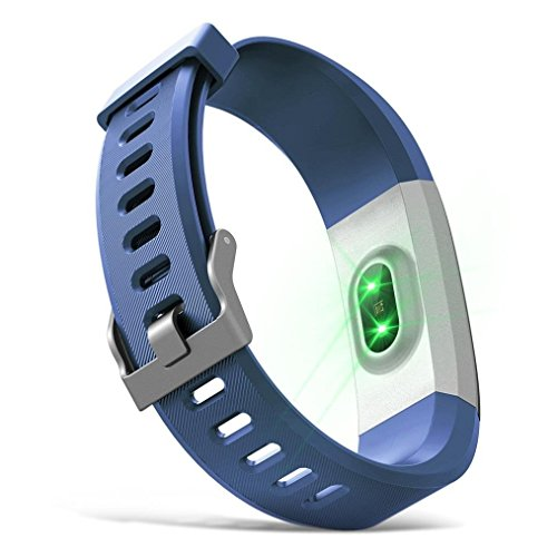 Activity Tracker Slim Fitness Tracker With Heart Rate Monitor Step Counter Smart Watch With Sleep Monitor CallSMS Reminder Bluetooth Pedometer Watch For IPhone Or Android Phone Blue