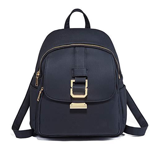 ZJX168 Damen-Rucksack aus Leder Schwarz Rucksäcke für Schule Universität Reisen, Casual elegant Umhängetasche, Schwarz - Schwarz - Größe: 26 * 12 * 32