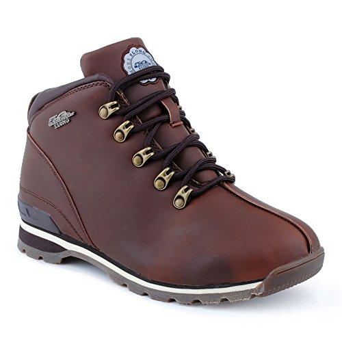 Herren Outdoor Schnür Boots Wander Stiefel Stiefeletten Worker Schuhe Braun EU 40