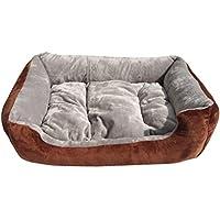 JEELINBORE Lavable Suave Cama para Perro Cómodo Casa Cesta Rectangular para Mascotas (Gris, S