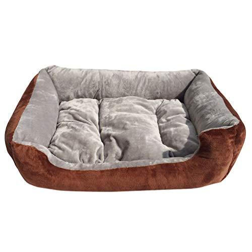 Jeelinbore lavabile morbido cuccia cuscini per cani divano letto per cane gatto (grigio, s: 50 * 40cm)