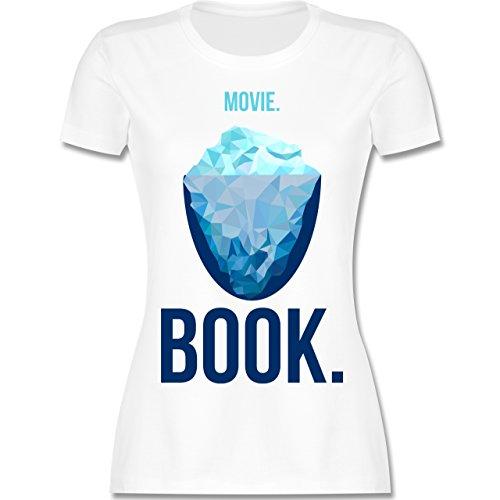 Nerds & Geeks - Movie vs Book - tailliertes Premium T-Shirt mit  Rundhalsausschnitt für