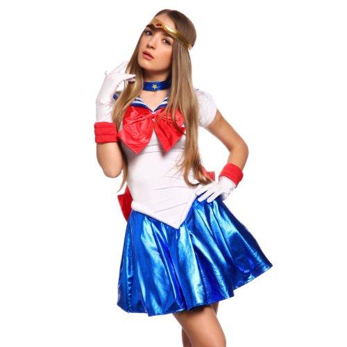 .M Sailor Moon Kostuem Schulmaedchen-Matrose Uniform Cosplay (Venus Sexy Kostüme)