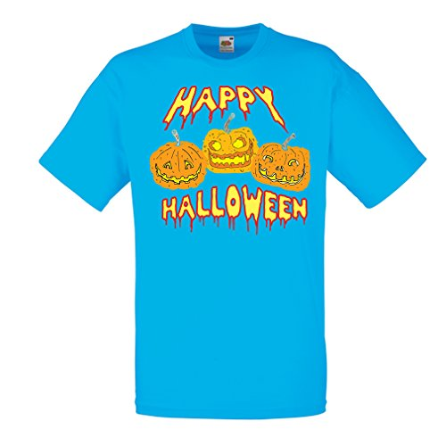 Männer T-Shirt Happy Halloween! Party Outfits & Costume - Gift Idea (Large Blau (Ball Vampir Ideen Kostüm)