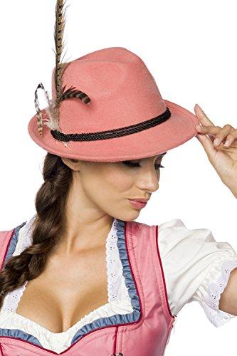 Preisvergleich Produktbild Aprikot Filz Trachtenhut Damen Frauen Dirndl Hut Oktoberfest Trachte Mütze
