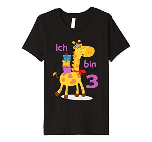Kinder Ich bin 3 Jahre Giraffe Junge Mädchen Geburtstag T-Shirt -
