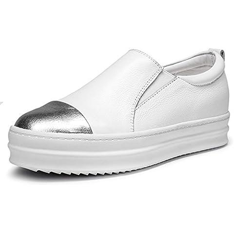 primavera scarpe Lok Fu/Donna scarpe casual spessa pelle piede/ scarpe comode/Scarpe (Martens Womens Sandali)