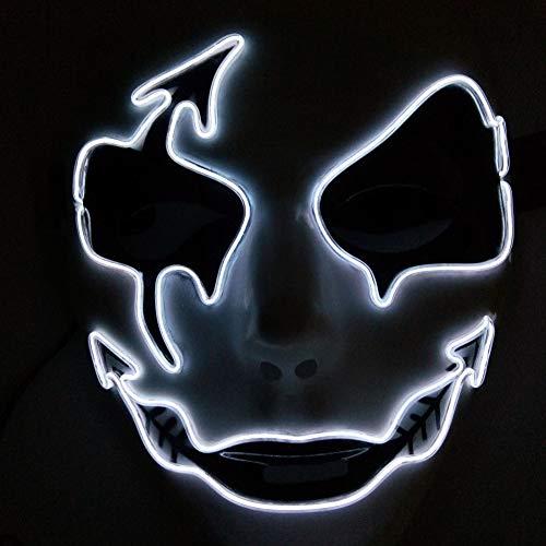 Artbro LED Maske mit 3 Blitzmodi für Halloween Karneval Maskerade Party Kostüm Cosplay Dekoration 2019 Design (Die Halloween-kostüme Für 3 2019 Familie)