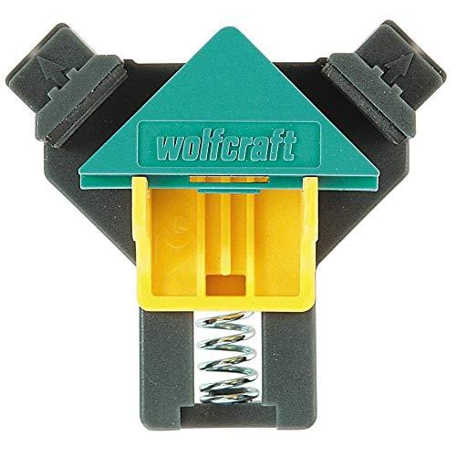 wolfcraft ES 22 Eckenspanner 3051000 Set - 2 Winkelspanner zur Fixierung von Brettern & Rahmen im 90° Winkel - Eckspanner für Brettstärken von 10-22mm