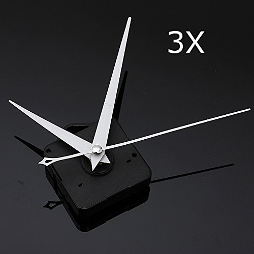 EsportsMJJ 3Pcs DIY Weißes Dreieck Hände Quartz Schwarz Wall Clock Movement Mechanismus - Dreieck Wall