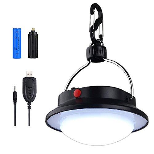 Lámpara de Camping, Portátil LED Linterna Camping Iluminación -60 LED Luces de la Noche al Aire Libre o de Interior con la Batería Recargable para la Excursión Acampa