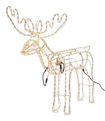 Leuchtschlauch Rentier mit beweglichem Kopf, Weihnachtsbeleuchtung, für außen, Lichterkette, Lichterschlauch, Weihnachtsdekoration von Edco auf Lampenhans.de