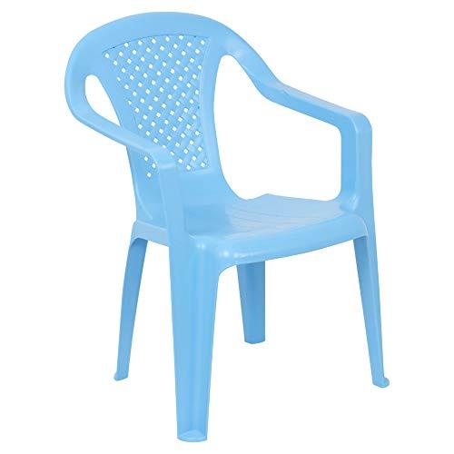 URBNLIVING Camelia Kunststoff Kinder Stuhl-blau (Menge 1)