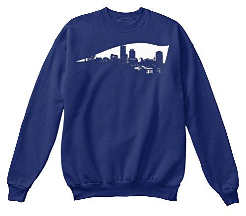 Bequemer Pullover Damen / Herren / Unisex von Teespring | Originelles Outfit für jeden Anlass und lustige Geschenksidee - New England Patriots - Boston Skyline Logo (Boston Patriots Sweatshirt)