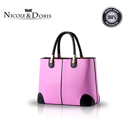 NICOLE&DORIS donne nuove donne borsa borse moda borsa messenger -Schulterbreite della borsa(Pink) purple taro