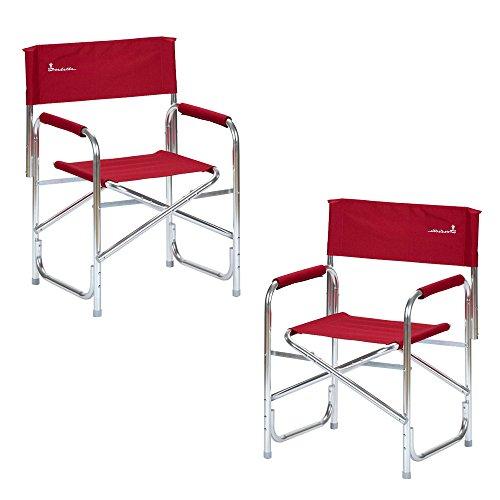 Isabella Réalisateurs Chaise Cadre Aluminium-Rouge x2