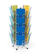 fluhr espositore con 20 scomparti per carte di mini formato verticale fino a 9 cm di larghezza, argento