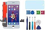 "AUODA Pantalla Táctil LCD Para Iphone 7 (4.7"") Táctil Reemplazo Marco Digital Conjunto Completo &Vidrio Protector (Blanco)"