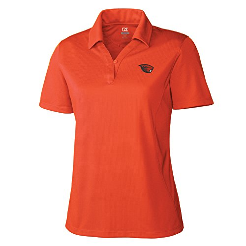 Cutter & Buck NCAA Damen CB Dry Tec Genre Polo, Damen, NCAA Women's CB Dry Tec Genre Polo, College Orange, XX-Large
