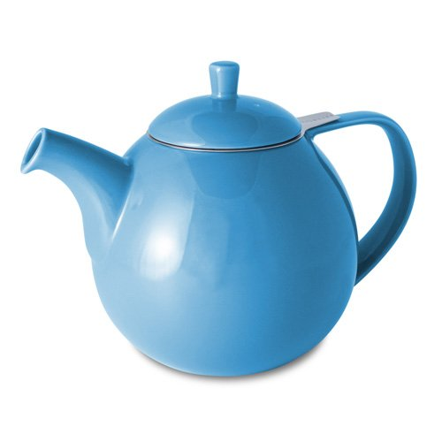 ForLife Curve 1,33 Liter Teekanne, komplett mit herausnehmbarem Edelstah-Teesieb-blau-388BLU