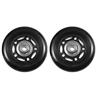 BESPORTBLE 2PCS PU Caster Wheels, Silent Repair CReplacement Parts Roller Caster Wheel Repair Wheel for Suitcases(Black 75 * 26mm)