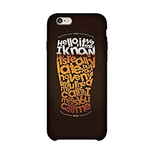 Wrapit Food&booze Hellow Its me Hard Back Case Cover For Apple Iphone 6 Plus/6s Plus