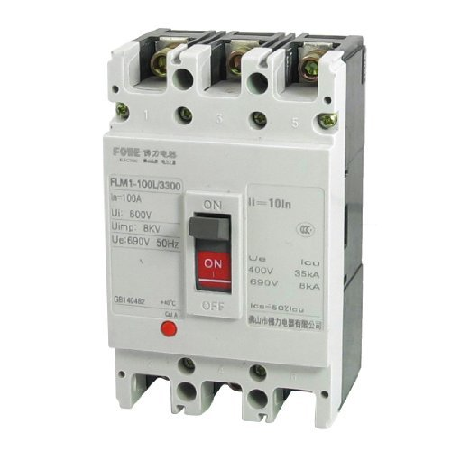DealMux AC 690V 100A 3P 3 Pole Molded Case Circuit Breaker FLM1-100L / 3300 -