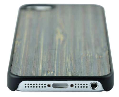 SunSmart Premium Quality Holz Ledertasche Cover für das Apple iPhone 5 5S 5C bunten Bambus